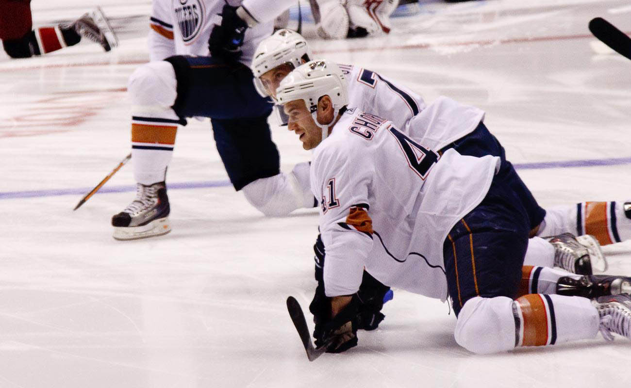 Edmonton Oilers during a hockey in Arizona