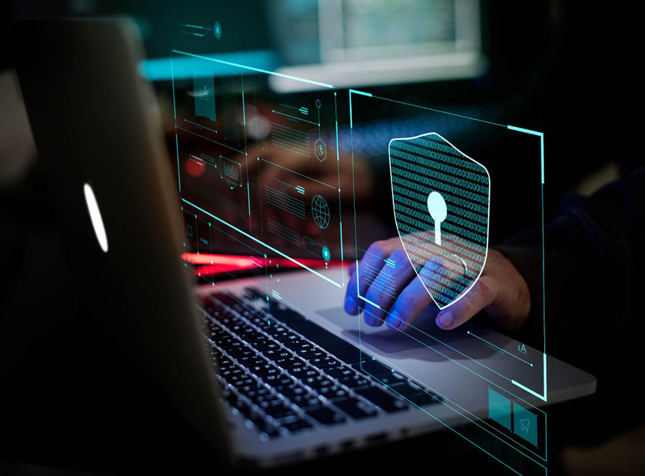 man doing cyber security verification