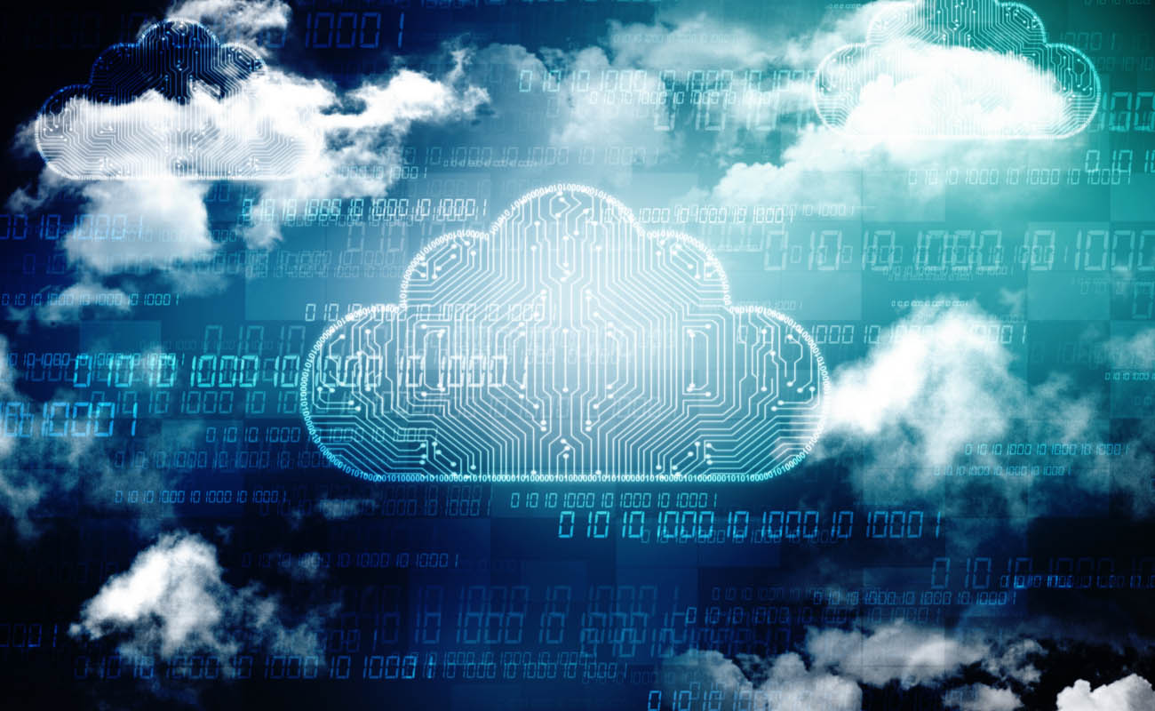 image showing cloud computing concept in digital background