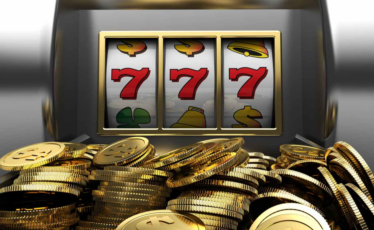 3d illustrations of slot machine win line and prize