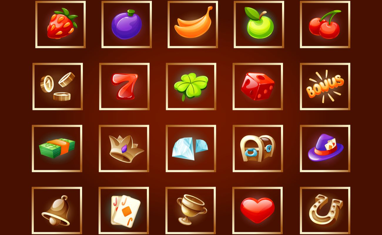 Casino icons for slot machines