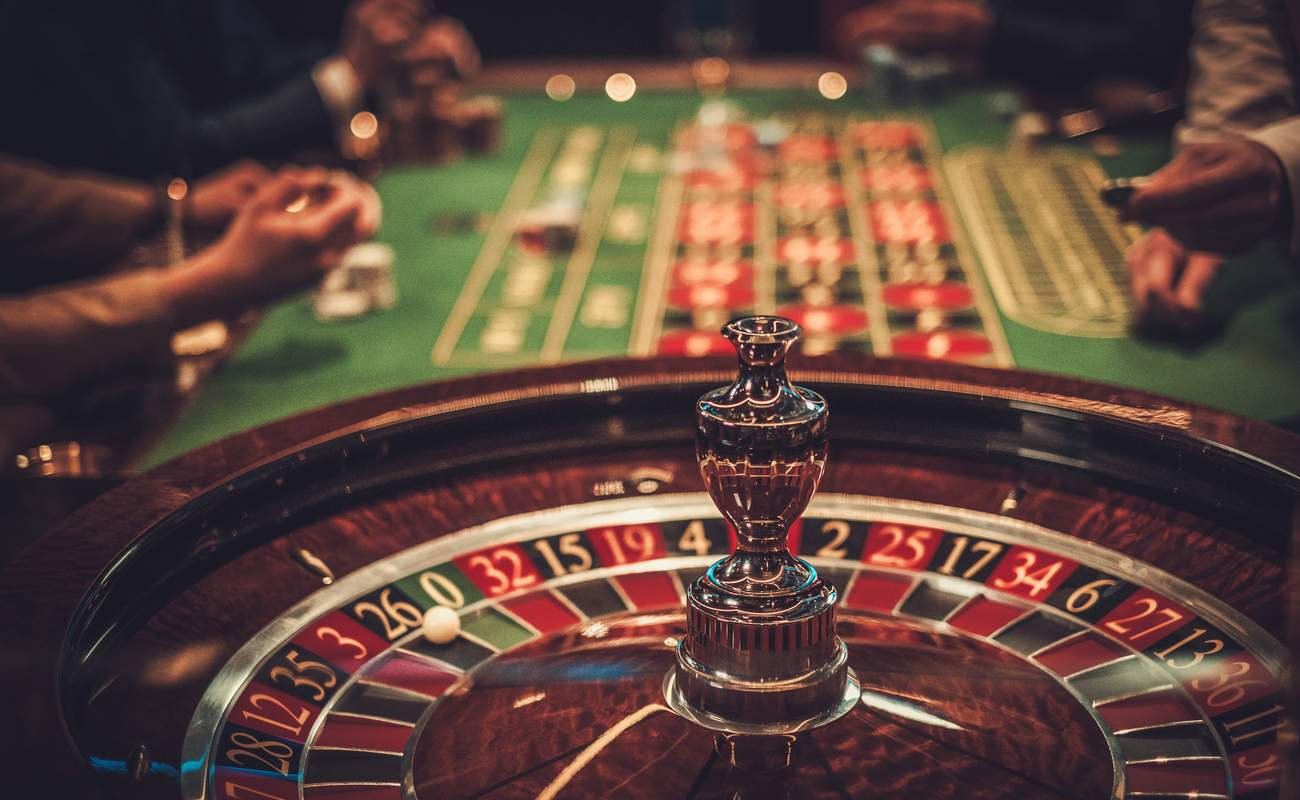 Gambling table in luxury casino, roulette