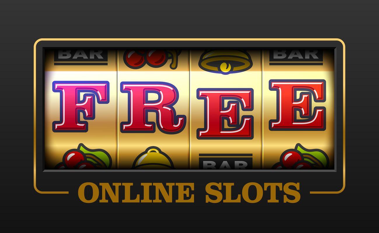 Vector illustration of free online slot machine games banner