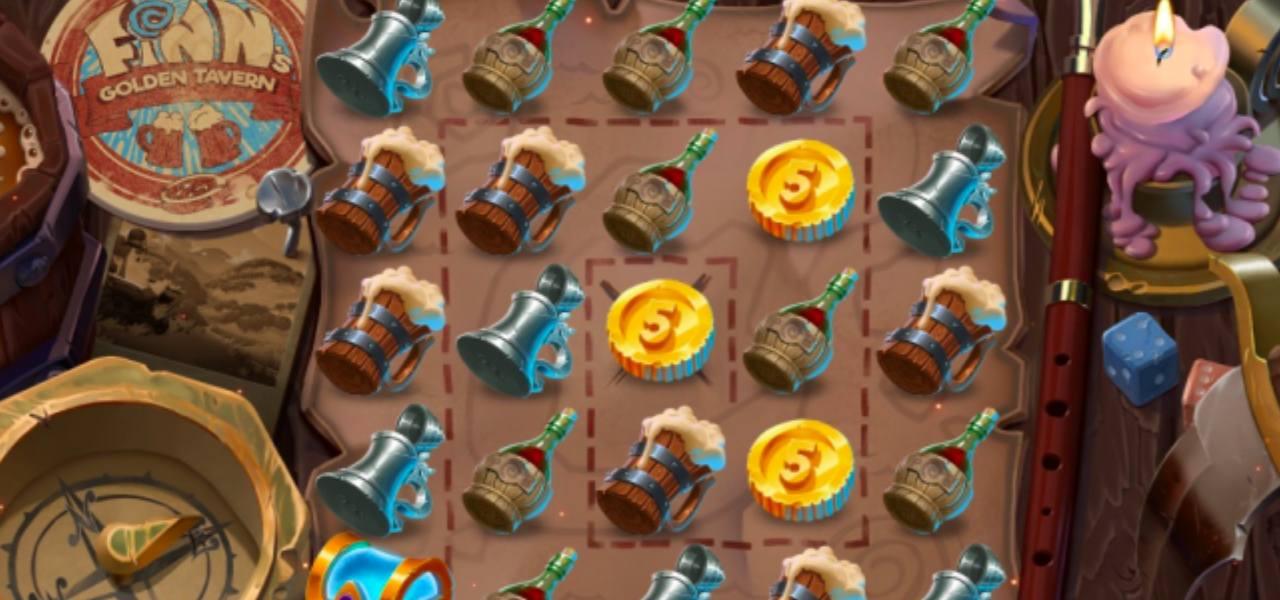 screenshot from online casino game Finn's Golden Tavern created by NetEnt