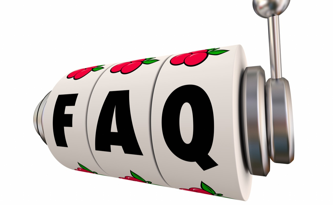 FAQ Frequently Asked Questions Slot Machine Wheels 3D Illustration