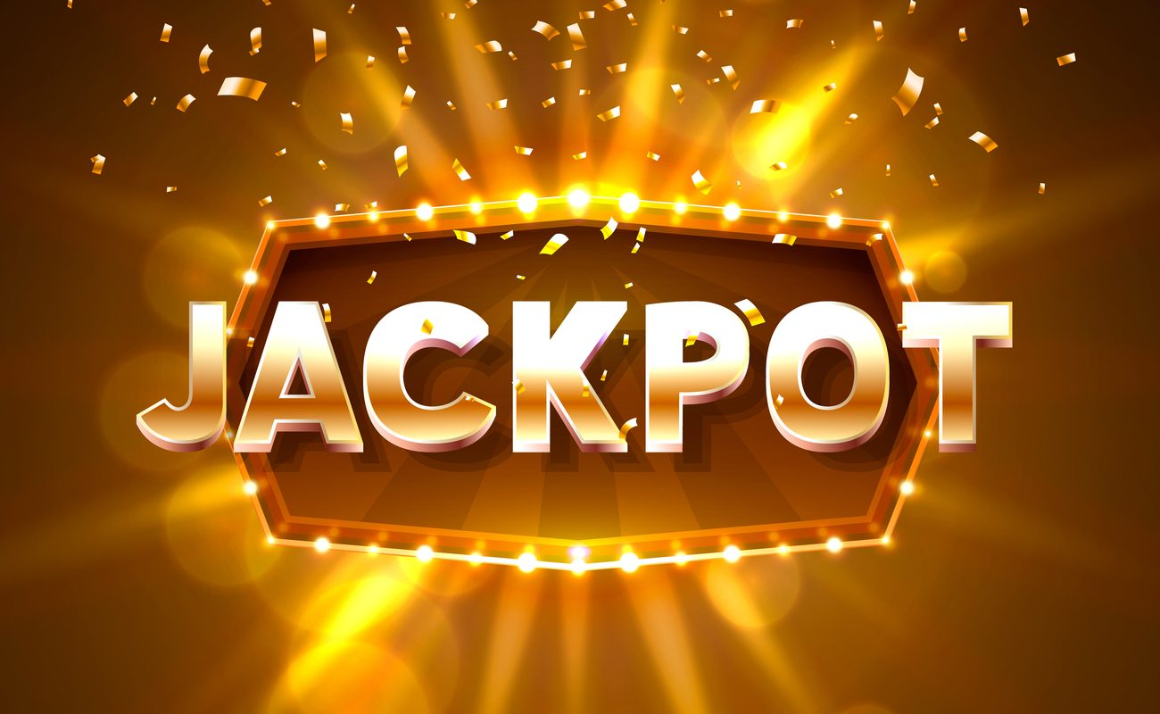 Jackpot 777 slots banner text against the backdrop of a bright ray of light