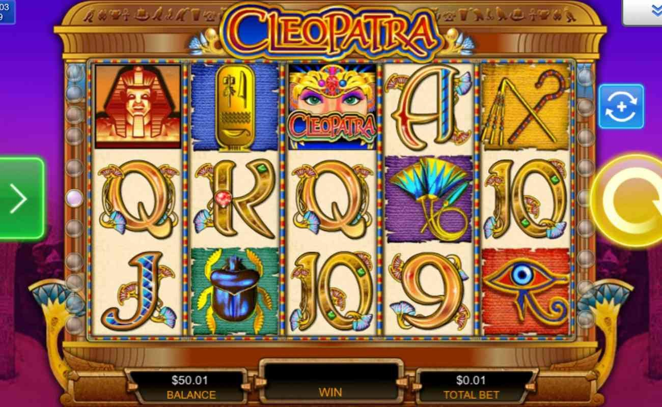 Cleopatra online slot game features and icons