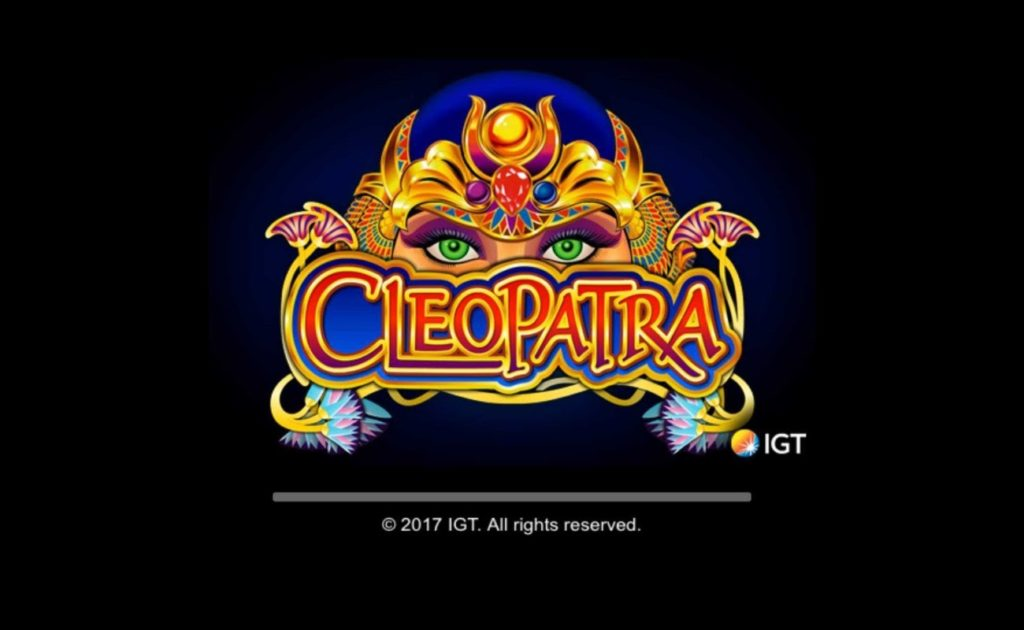 Cleopatra online slot game opening screen