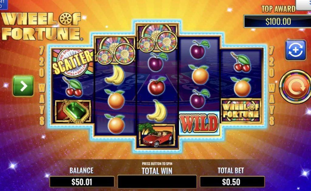 Colorful gambling vector illustration of wheel of fortune wheel online slot game