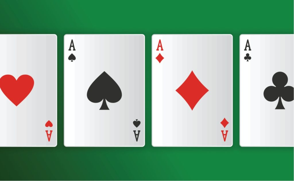 Quad Aces in Poker