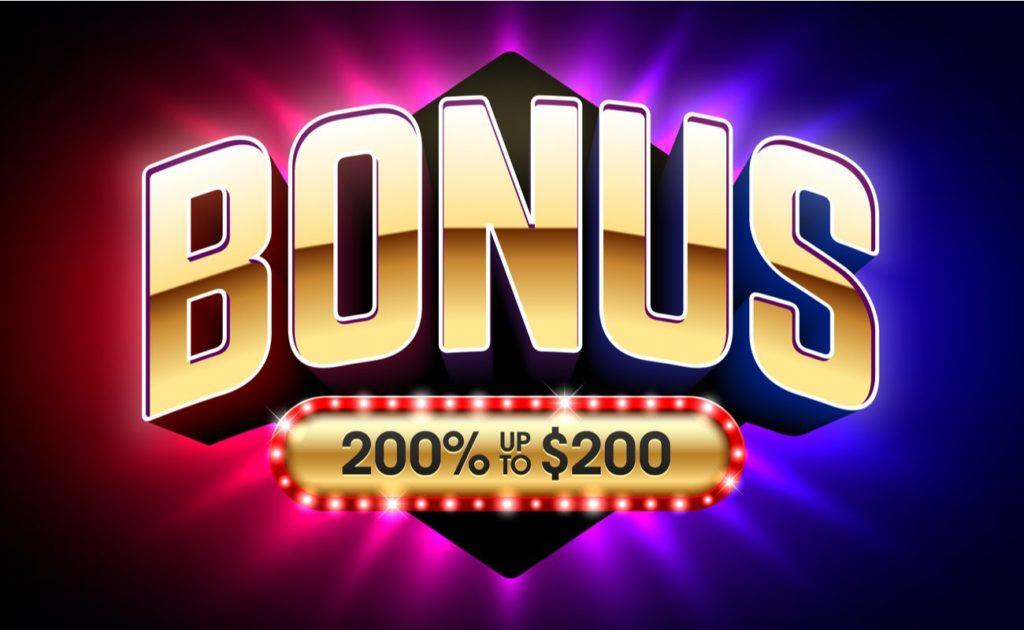 Vector Illustration of Welcome Bonus casino banner