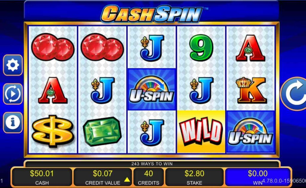 Screenshot of Cash Spin online gambling casino slots game