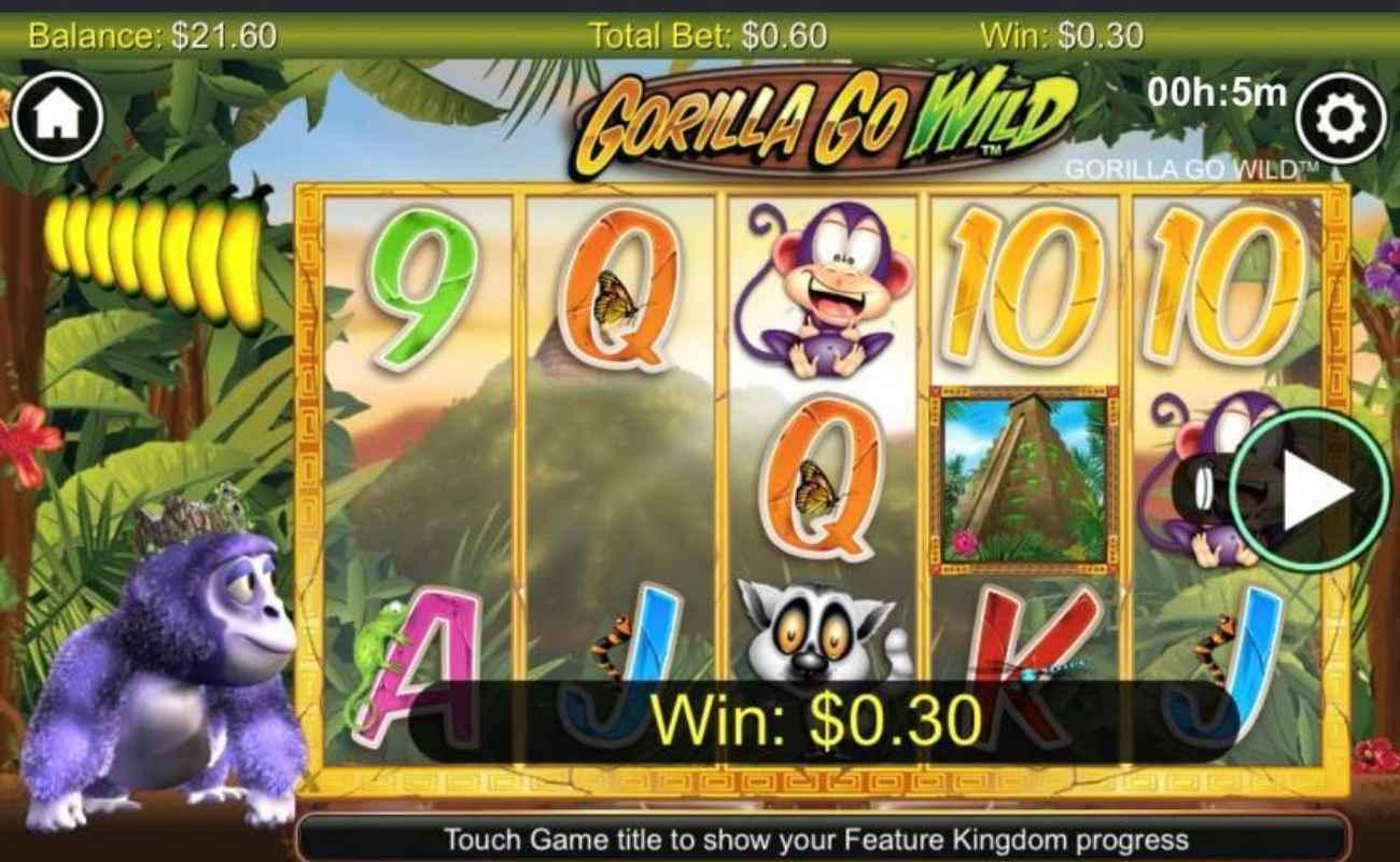 Gorilla Go WIld online slot casino game