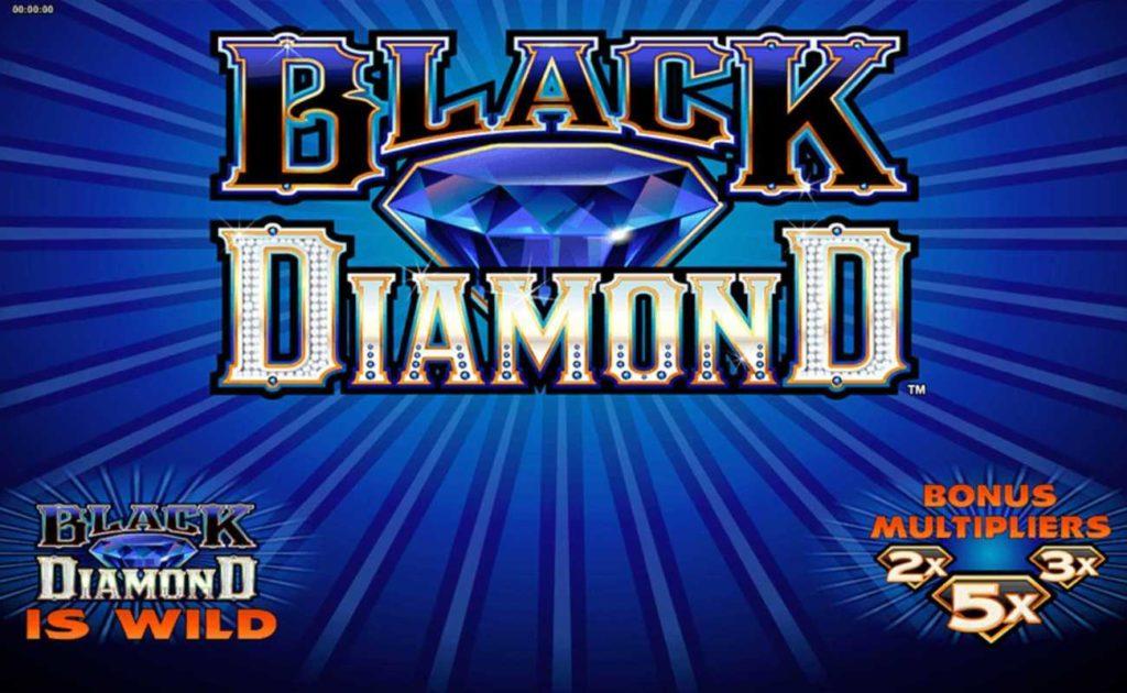 Black Diamond online slot game intro screen
