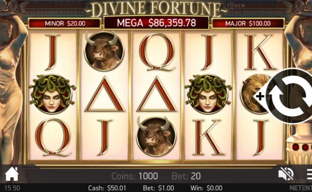 Divine Fortune online slot casino game icons