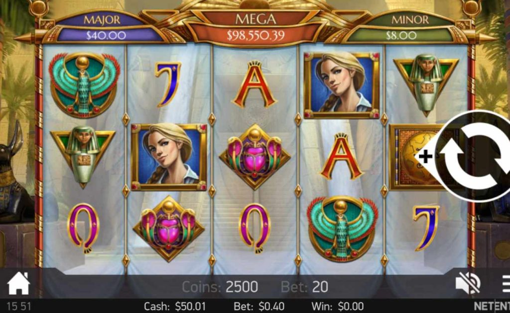 Mercy of The Gods online slots casino game icons