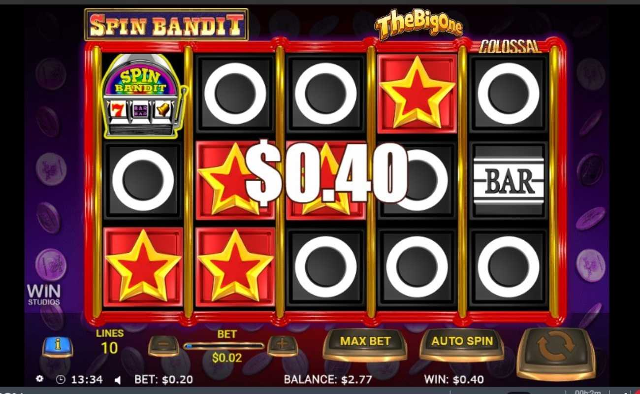Spin Bandit online slot casino game win of $0.40