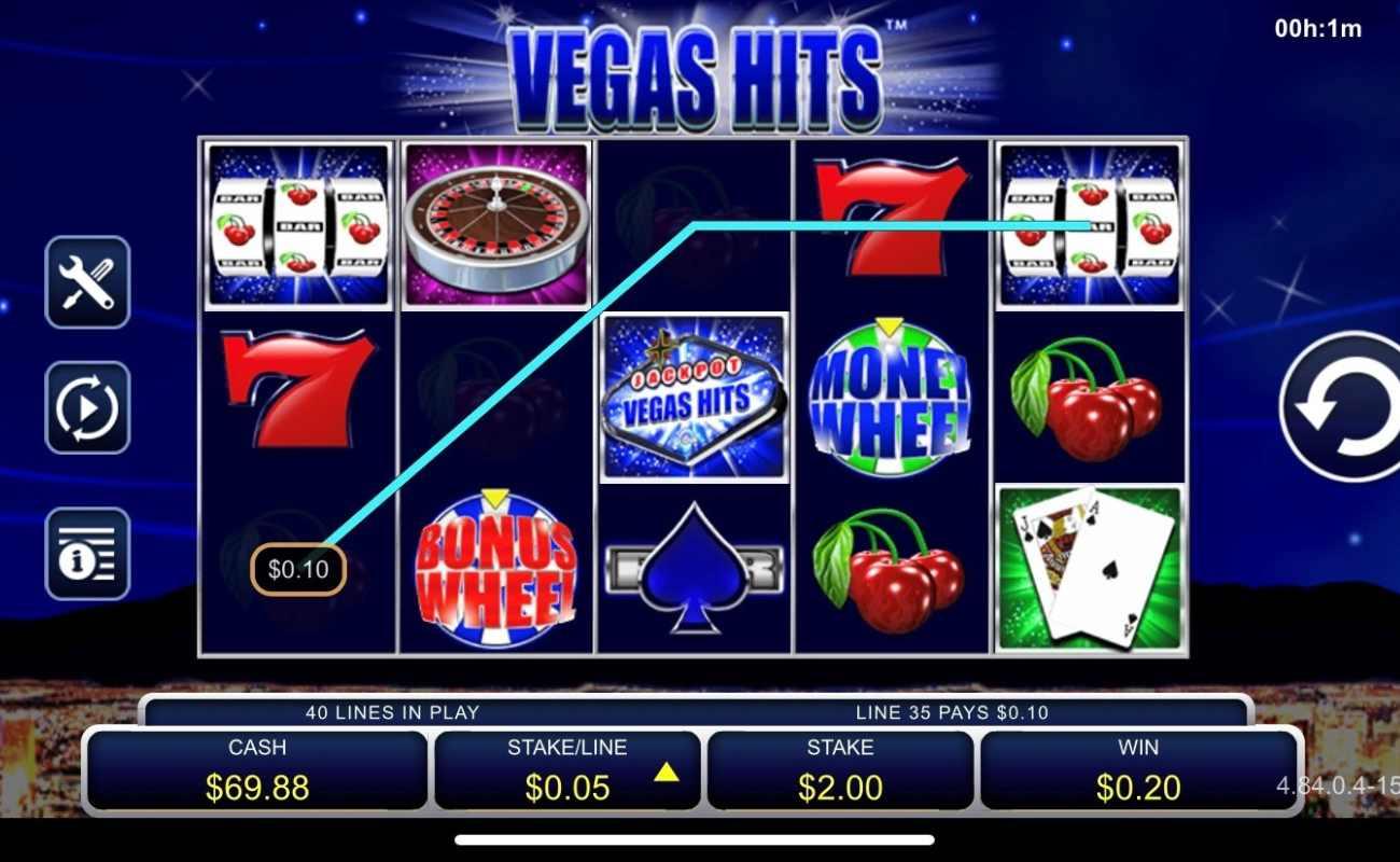Screenshot of Vegas Hits online slots casino game