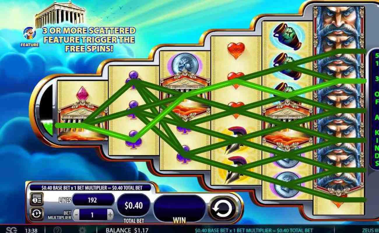 Zeus III online slots casino game win