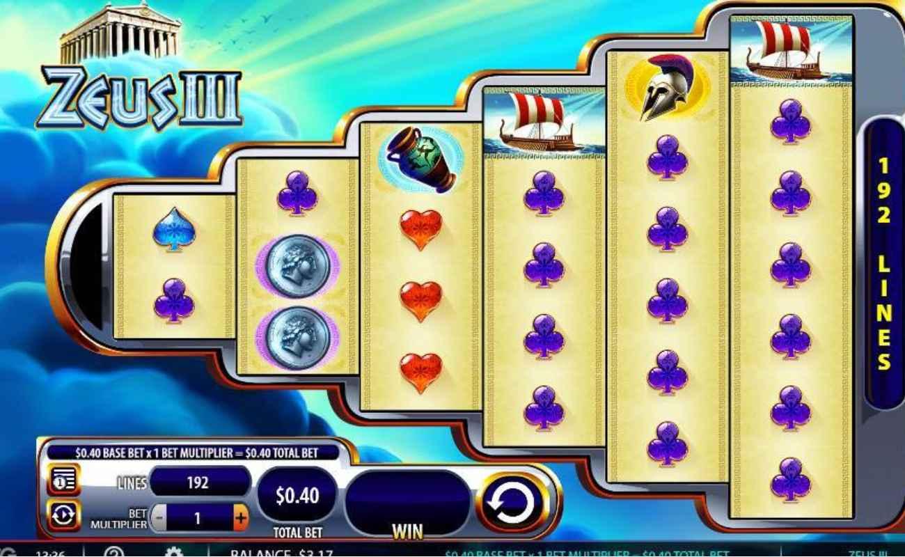 Zeus III online slots casino game
