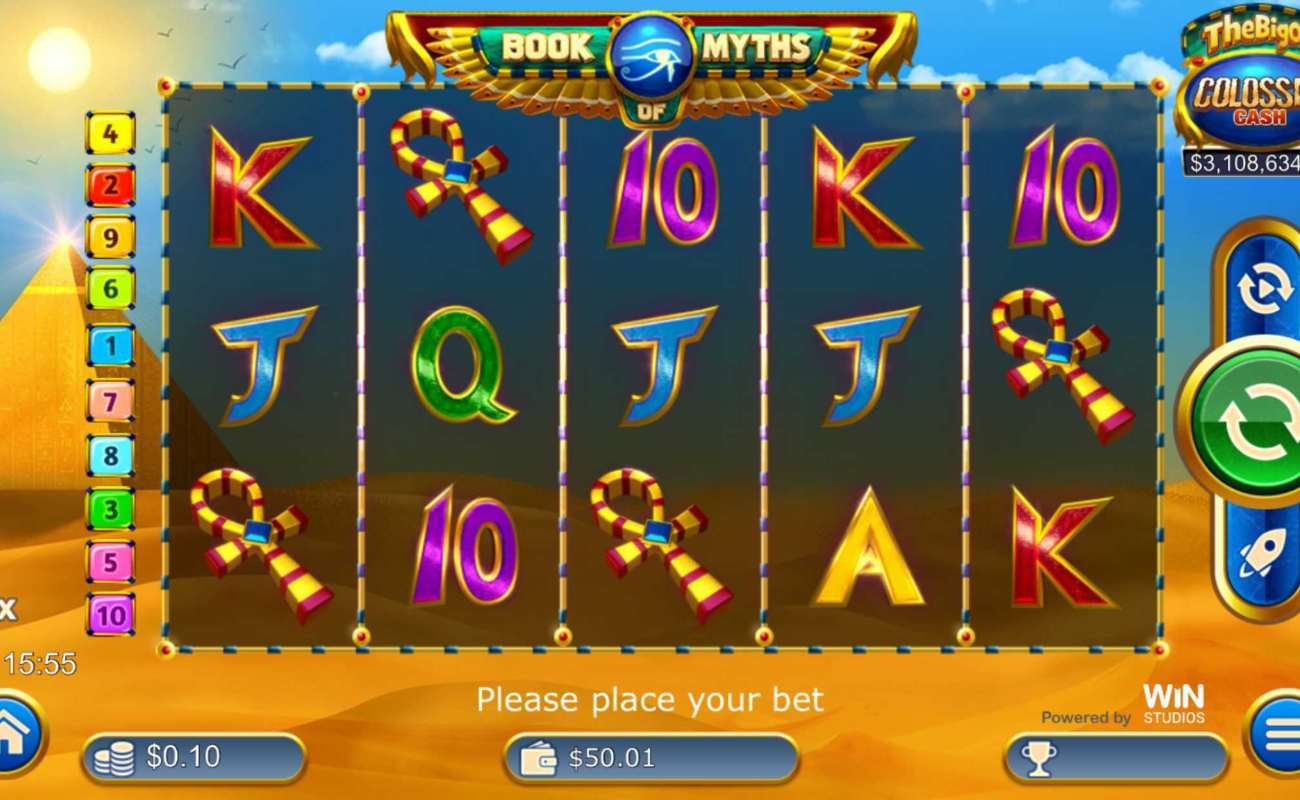 Book of Myth online slot casino game icons