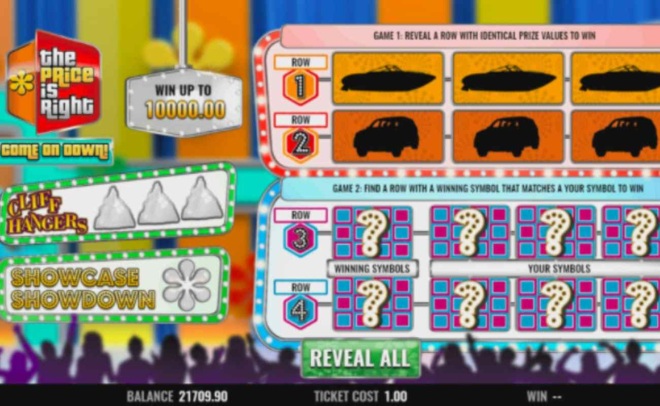 The Price is Right Come on Down! slots screenshot with colorful gameplay