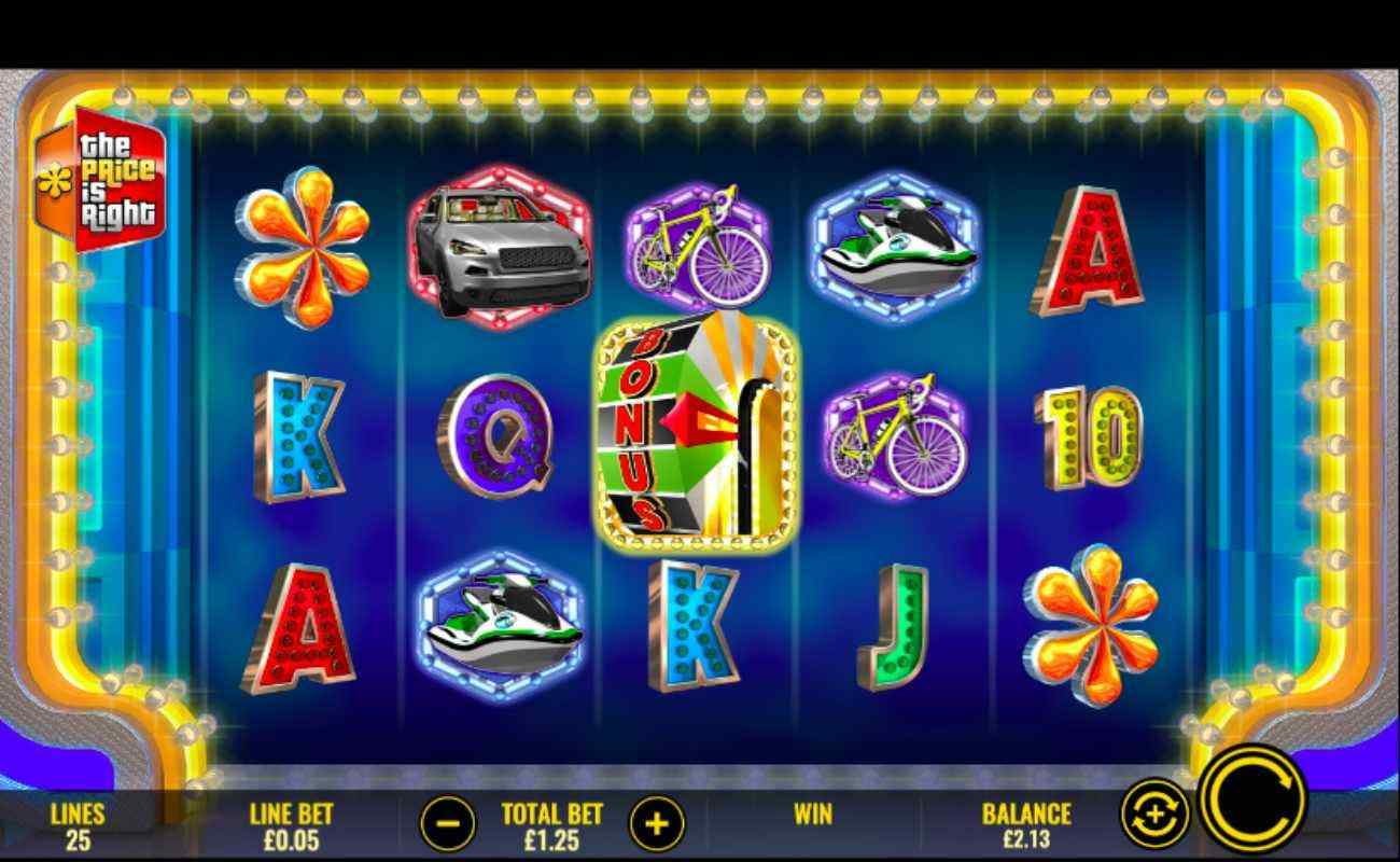 The Price is Right slot with bright and colorful symbols on reels