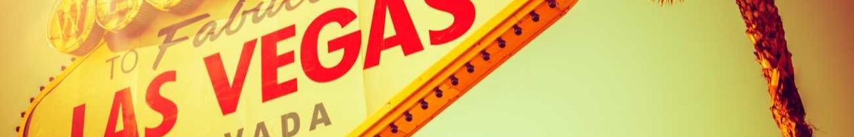 World Famous Las Vegas Nevada Strip Entrance Sign in 80s Vintage Color Grading