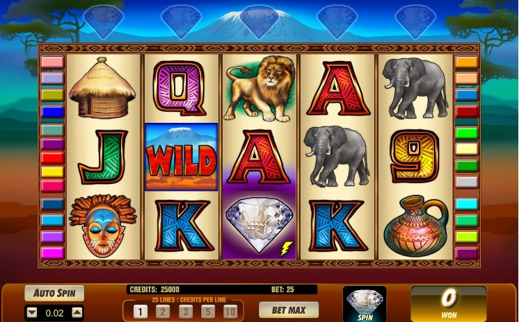 Online casino slot game Serengeti Diamonds by NYX