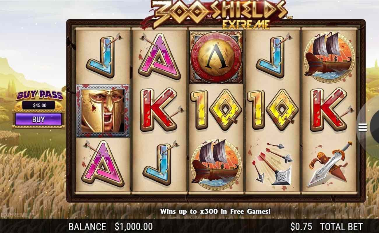 Online casino slots game 300 Shields Extreme by NextGen