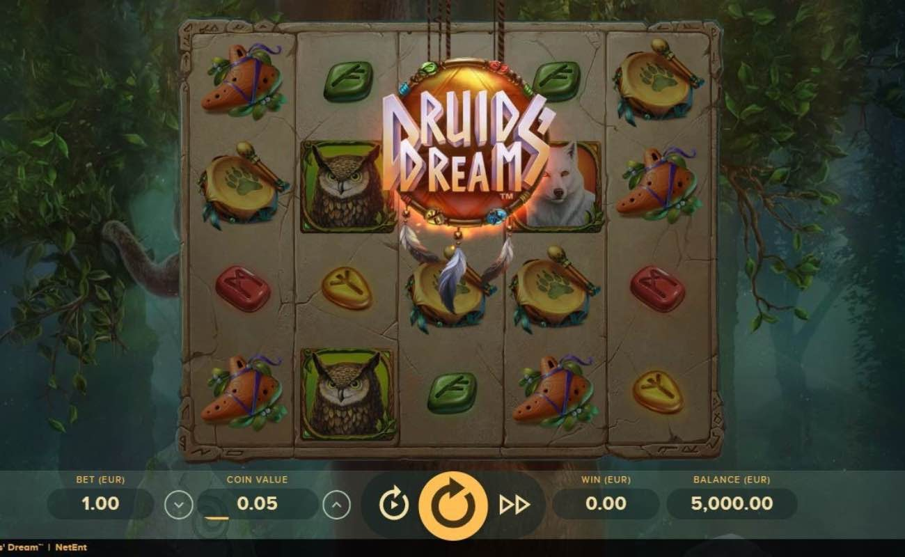 Online slots casino game Druids Dream by NetEnt