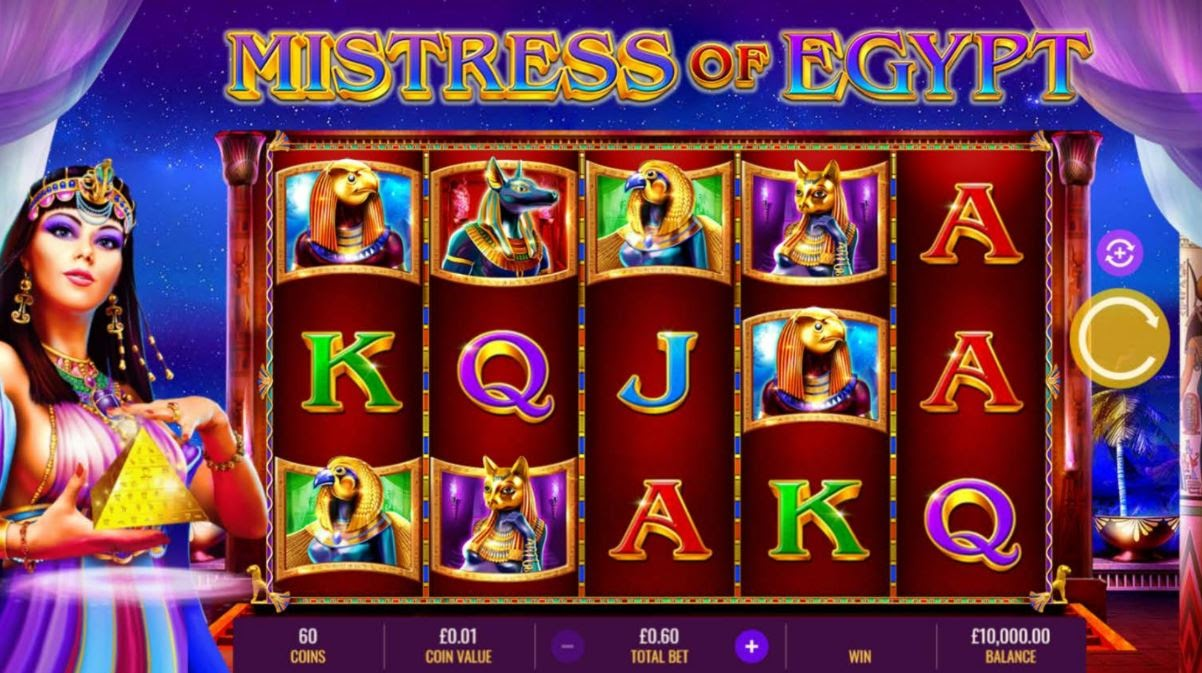 Online slots casino game Mistress of Egypt by IGT