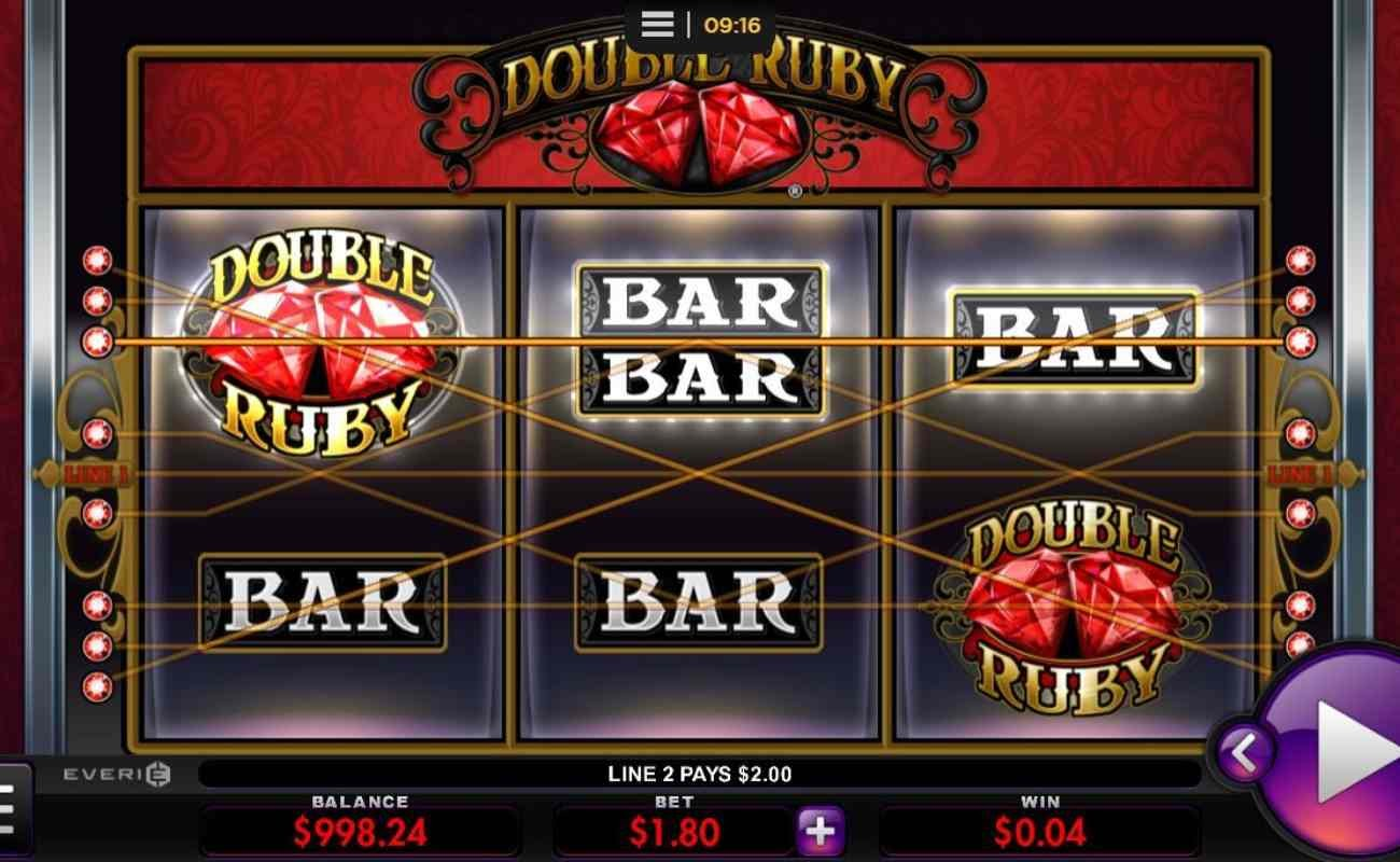Double Ruby online casino slots game