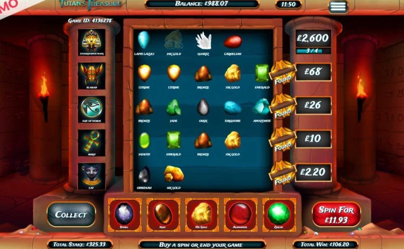Tutan's Treasure online casino game