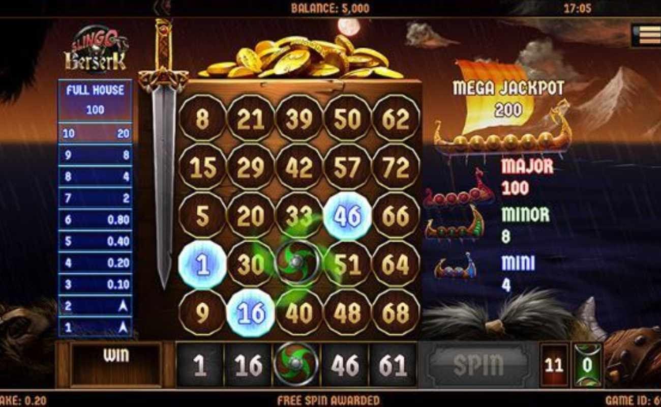 Slingo Berserk online casino game