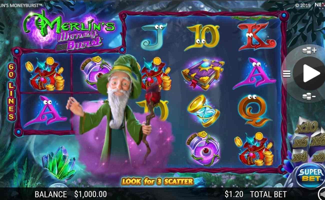 Merlin's Money Burst online casino game