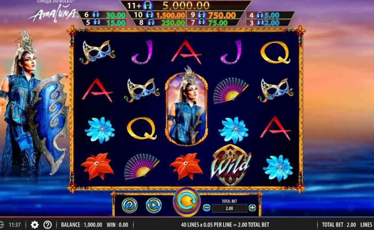 Cirque du Soleil Amaluna online casino game