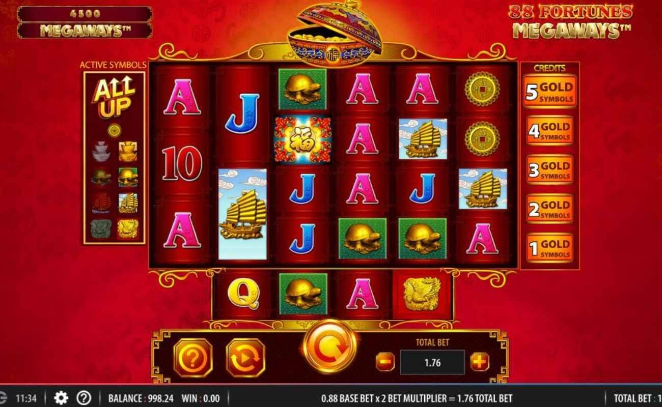 88 Fortunes Megaway online slot casino game