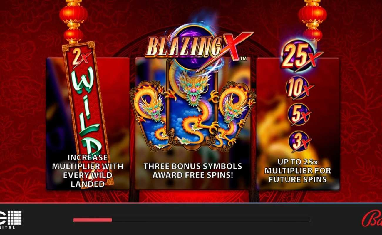 Blazing X Asia by Bally online slot casino game