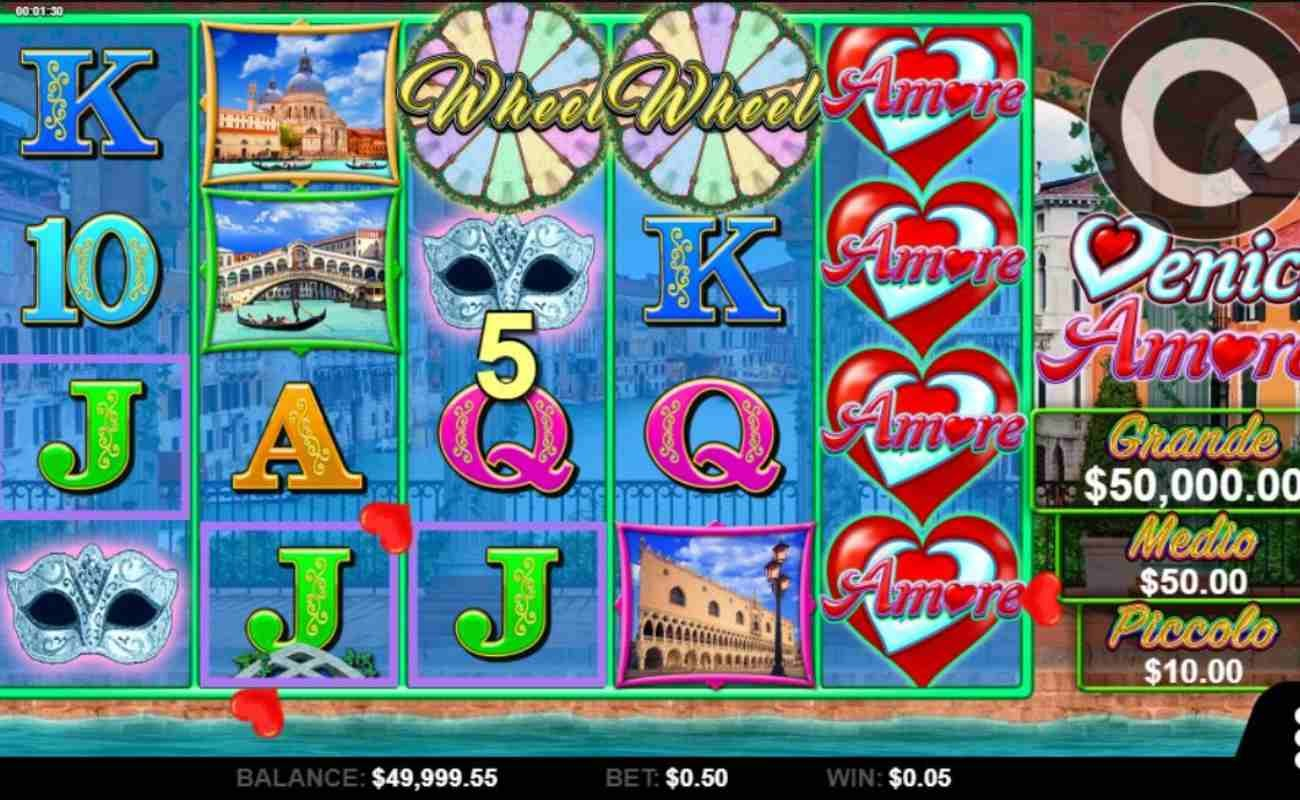 Venice Amore by Spin online slot casino game