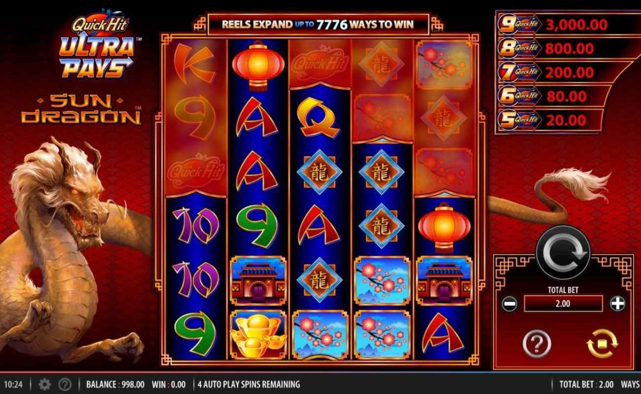 Quick Hit Ultra Pays Sun Dragon by NYX online slot casino game