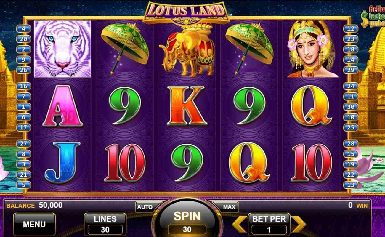 Lotus Land by Konami online slot casino game