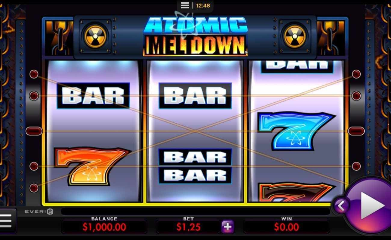 Atomic Meltdown online slot casino game by Everi