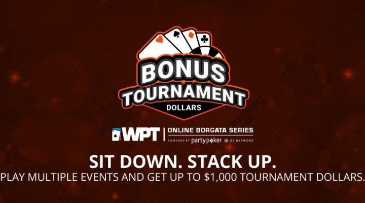 Bonus Tournament Dollars vector for the WPT Online Borgata Series Tournament
