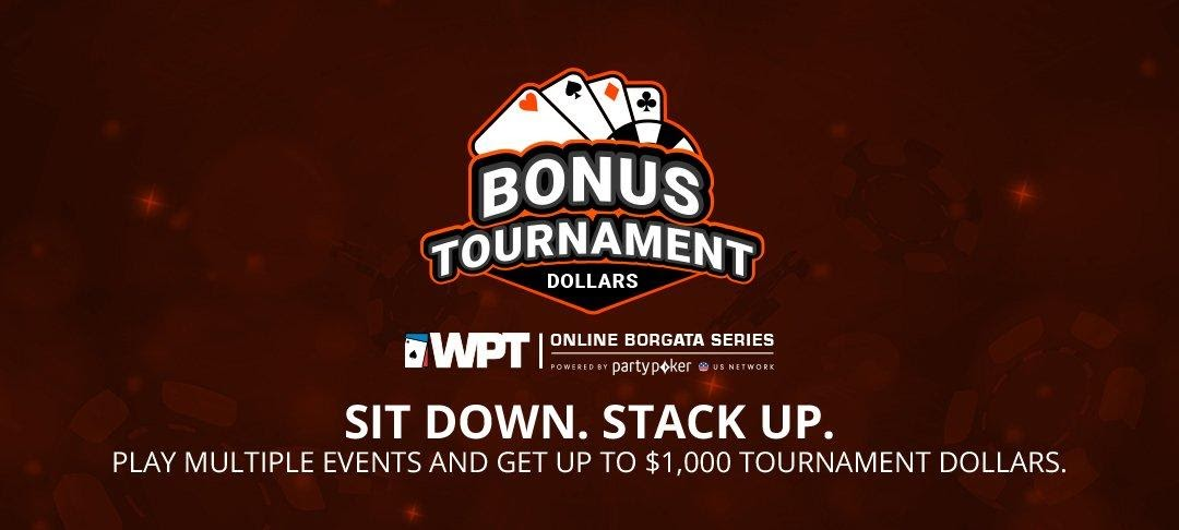 Bonus Tournament Dollars vector for the WPT Online Borgata Series Tournament