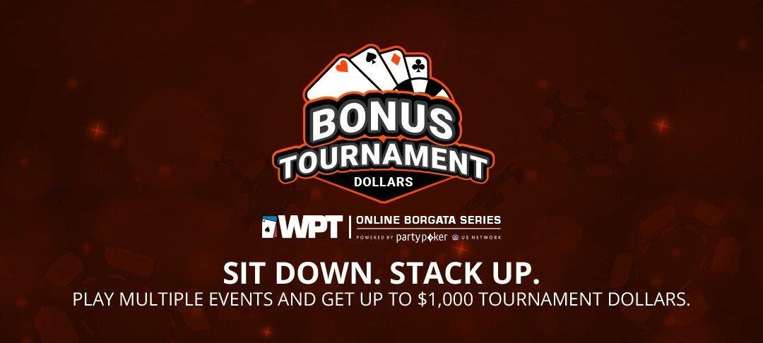 Vektor Bonus Turnamen Dolar untuk Turnamen Seri Borgata Online WPT