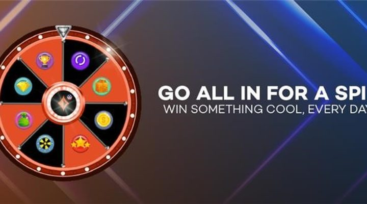 Promotional image for the WPT Online Borgata Series promotion of spin the wheel