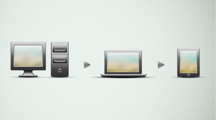 Computer concept, technological progress