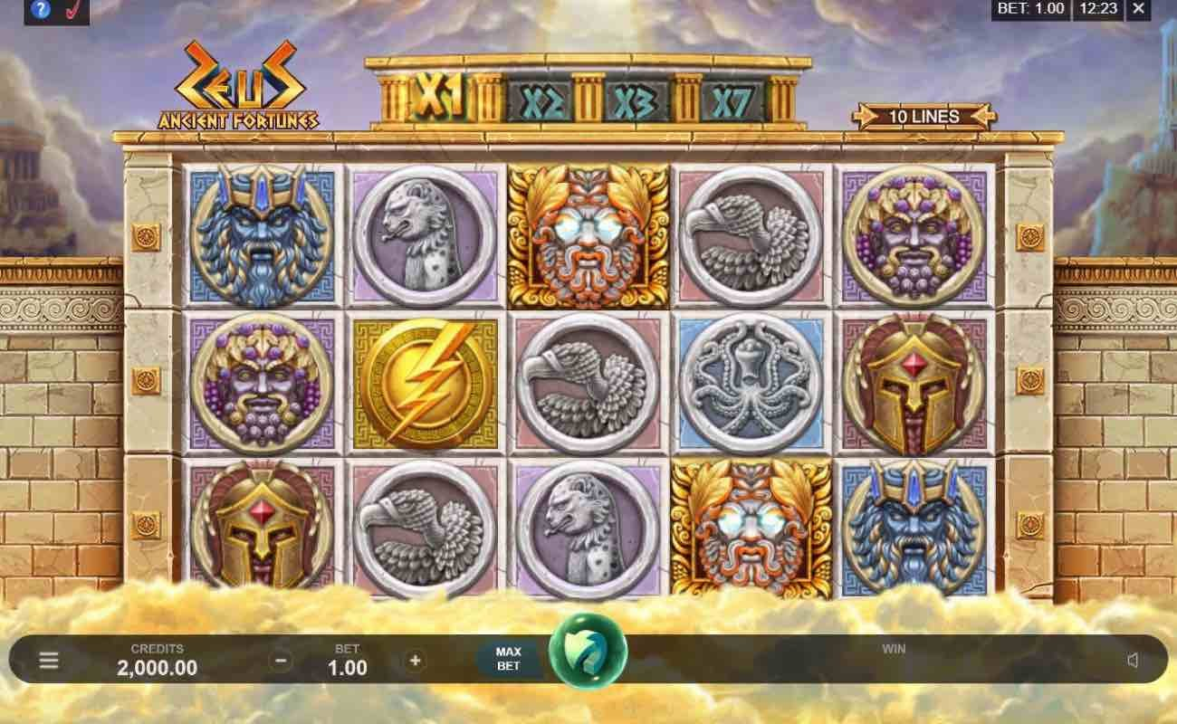Ancient Fortunes Zeus by Microgaming online slot casino game
