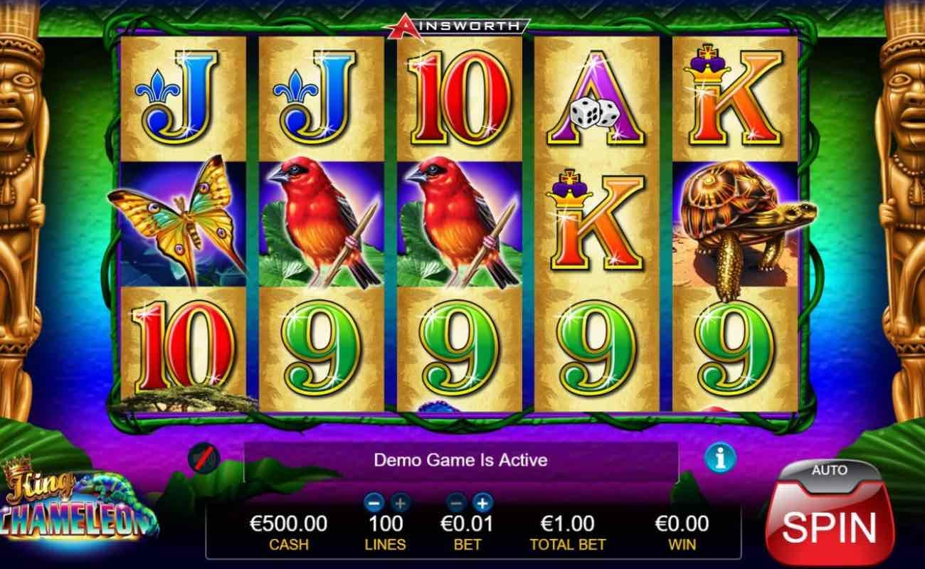 King Chameleon by Ainsworth online slot casino game